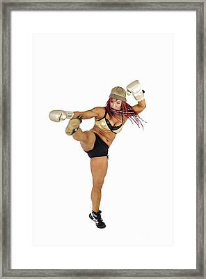 Female Kick Boxer 2 Framed Print by Ilan Rosen