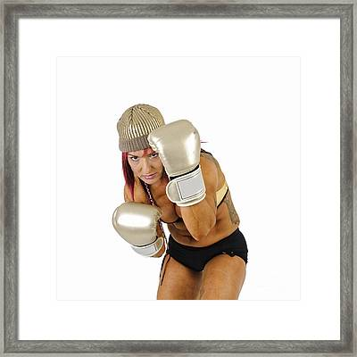 Female Kick Boxer 3 Framed Print