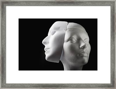 Female Mannequin And Mask Framed Print by Kelly Redinger