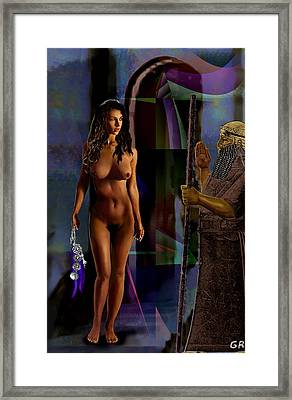 Female Nude Digital Fine Art Jean Inanna 7th Gate Framed Print