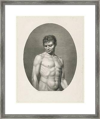 Female Nude, Johannes De Mare Framed Print by Johannes De Mare