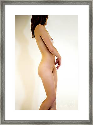 Female Nude Study Framed Print by Julia Hiebaum