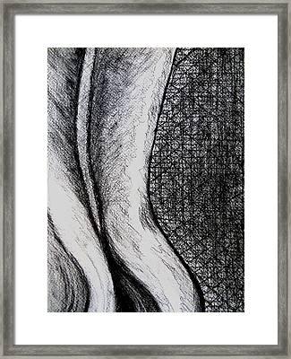 Female Nude The Backside Framed Print