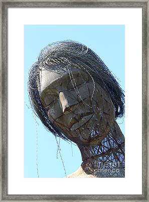 Female Sculpture On San Francisco Treasure Island 7d25445 Framed Print by Wingsdomain Art and Photography