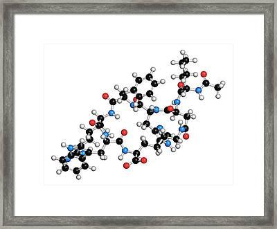 Female Sexual Dysfunction Drug Molecule Framed Print