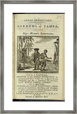Female Slave Framed Print by British Library