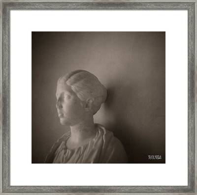 Female Statue With Broken Nose Framed Print by Beverly Brown