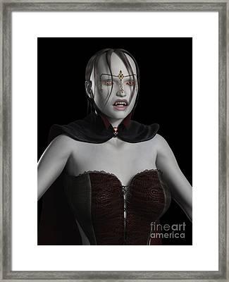 Female Vampire Portrait Framed Print