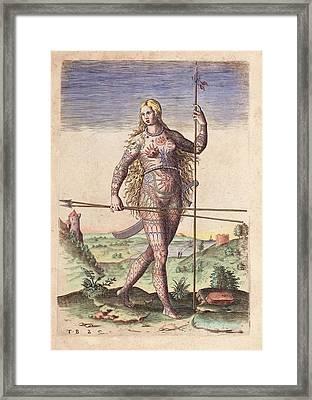 Female Warrior Framed Print
