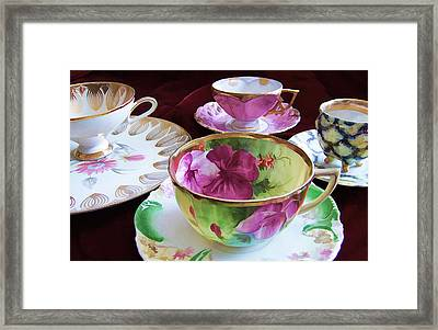 Feminine High Society Ladies Tea Party Framed Print