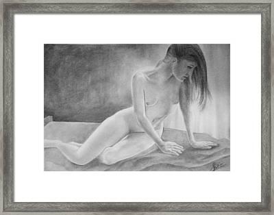 Feminine V Framed Print by Suvam Majumder