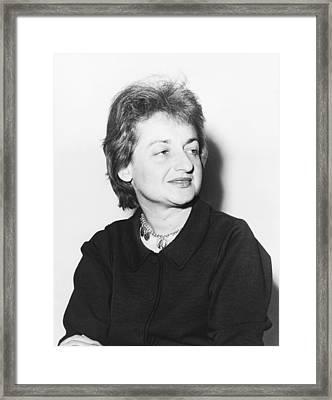 Feminist Betty Friedan Framed Print