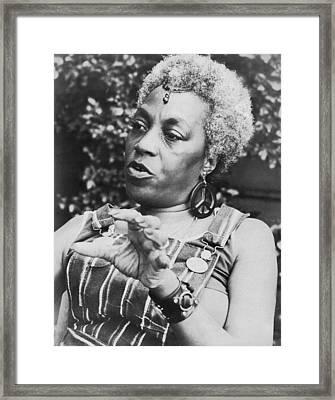 Feminist Florynce Kennedy Framed Print