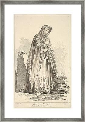 Femme De Boulogne, From Recueil De Framed Print