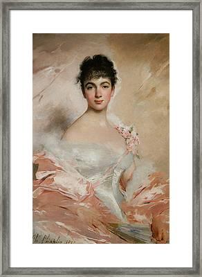 Femme En Rose Framed Print by Charles Chaplin