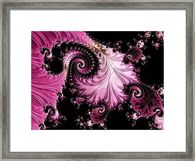Framed Print featuring the digital art Femme Fatale Fractal by Susan Maxwell Schmidt