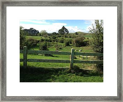 Fence And Beyond Framed Print by Ron Torborg