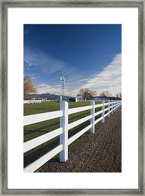 Fence At A Winery, Rutherford, Wine Framed Print by Panoramic Images