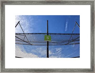 Fence Behind Home Plate Ballfield Framed Print