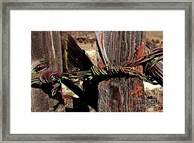 Fence Closure Harney County Oregon Framed Print by Michele AnneLouise Cohen