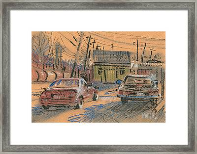 Fence Company Framed Print by Donald Maier