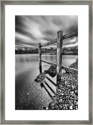 Fence In The Loch  Framed Print