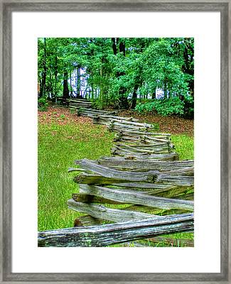 Fence Line Framed Print by Dan Stone
