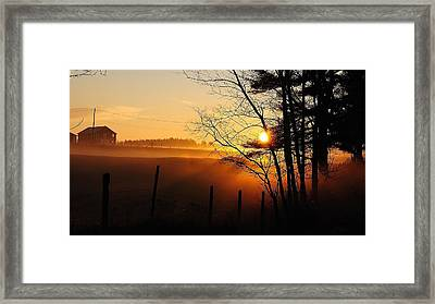 Framed Print featuring the photograph Fence Line by Paul Noble