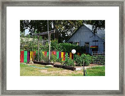 Fence Of Colors Framed Print by Kelly Kitchens