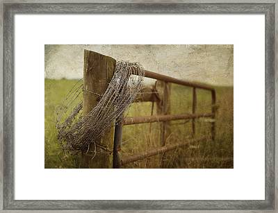 Fence Post Framed Print by Kathy Jennings