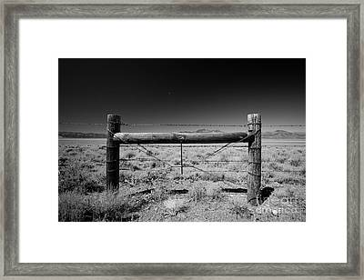 Fence Posts Framed Print by Rick Rhay