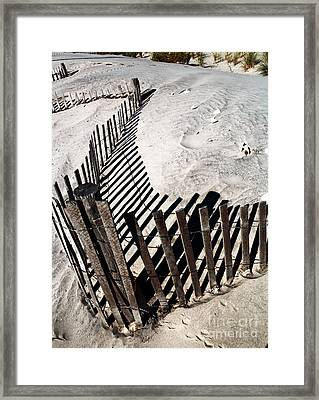 Fence Shadows Framed Print by John Rizzuto