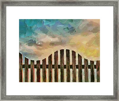 Fence Sunset Framed Print by Yury Malkov