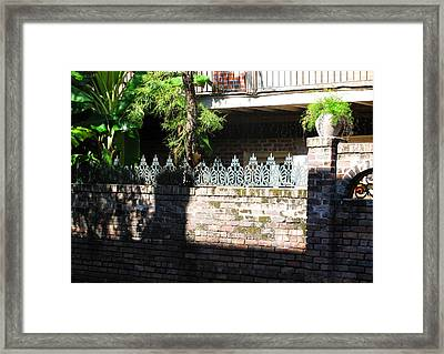 Fence Framed Print by Tom Hefko