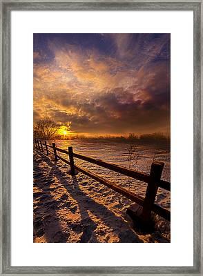 Fence Walking Framed Print by Phil Koch