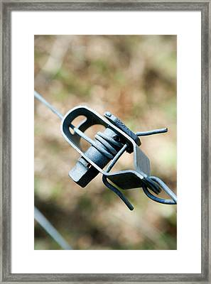 Fence Wire Tightener Framed Print by Gustoimages/science Photo Library
