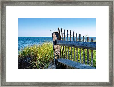 Framed Print featuring the photograph Fence With A Great View by Mike Ste Marie