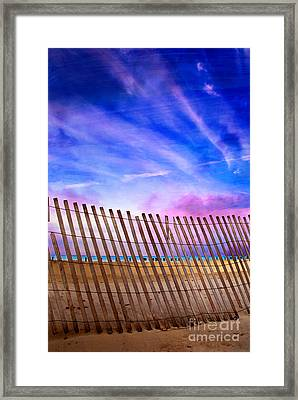 Fenced Beauty Framed Print by Jeanette Brown