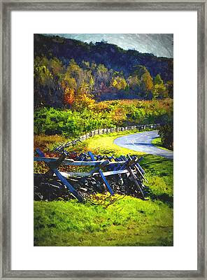Framed Print featuring the photograph Fenced In by Cathy Shiflett