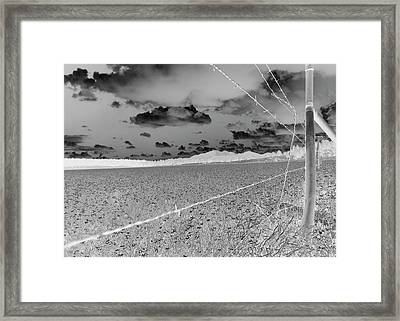 Framed Print featuring the photograph Fenced Inn Inverse by Tom Kelly