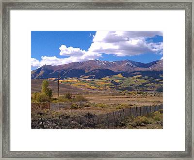 Framed Print featuring the photograph Fenced Nature by Fortunate Findings Shirley Dickerson