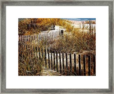 Fenced Off Framed Print by EricaMaxine  Price