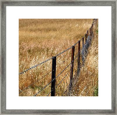 Fenced Off Framed Print by Kaleidoscopik Photography