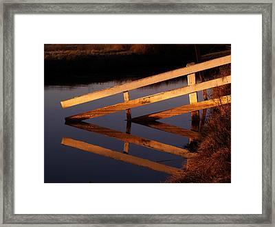 Fenced Reflection Framed Print by Bill Gallagher