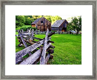 Fences At Burnside Plantation Bethlehem Pa Framed Print