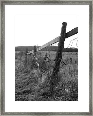 Fences Black And White I Framed Print