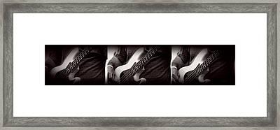 Fender Bass Framed Print by Bob Orsillo