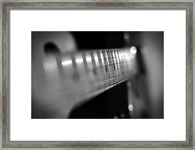 Fender Fret Framed Print by Mark Rogan