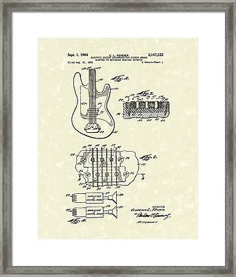 Fender Guitar 1964 Patent Art Framed Print