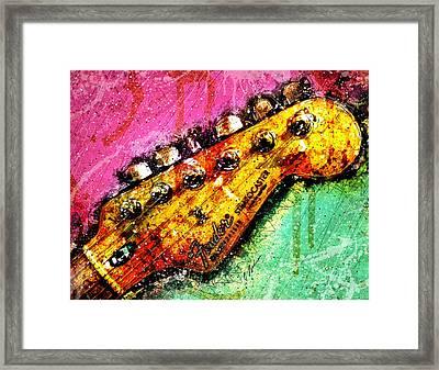 Fender Headstock 1 Framed Print